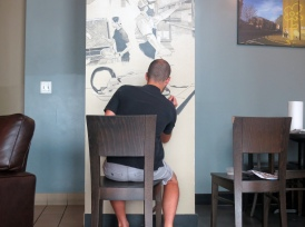 Painting a Mural at Lost Rhino Retreat