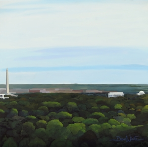 washington dc, washington monument, washington dc painting, washington dc art, landscape painting