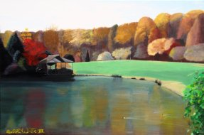 """""""brookside gardens painting"""", """"brookside gardens art"""", """"fall painting"""", """"autumn painting"""", """"landscape painting"""", """"dave white painting"""", """"dave white art"""""""