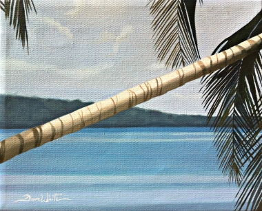 cahuita, costa rica, beach, tropical, beach painting, ocean, seascape, art, oil painting, artist dave white, caribbean