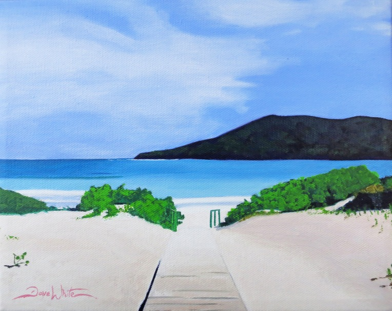 """flamenco beach"", ""beach painting"", ""puerto rico painting"", ""seascape painting"", ""dave white artist"", ""leesburg artist"", ""loudoun artist"", ""puerto rico painting"", ""beach art"""