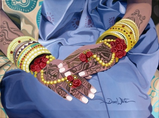 """""""dave white paintings"""", """"cultural paintings"""", """"indian wedding painting"""", """"india wedding art"""", """"india wedding painting"""", """"india painting"""""""