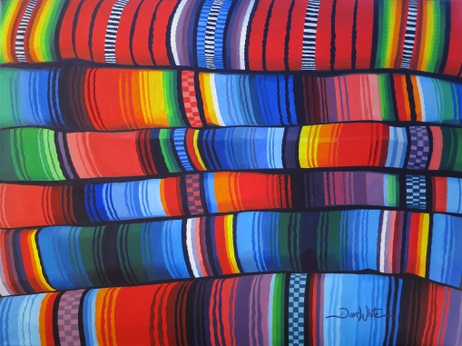 bright colors, indigenous blanket, indigenous fabric, indigenous art, indigenous painting, latin america art, latin america painting, hispanic art, hispanic painting