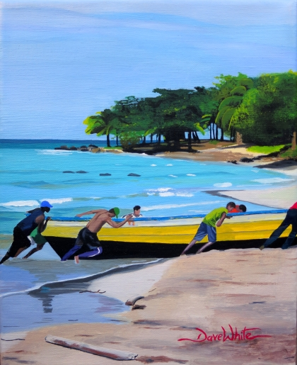 """caribbean painting"", ""nicaragua painting"", ""caribbean art"", ""nicaragua art"", ""boat painting"", ""beach painting"", ""central america caribbean"", ""dave white painting"", ""dave white art"""