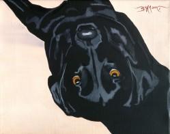 """dog painting"", ""black labrador painting"", ""dog portrait"", ""dog art"", ""animal painting"", ""dave white painting"", ""dave white artist"""