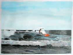 """""""surf art"""", """"inner surfer art"""", """"surfer art"""", """"costa rica art"""", """"dave white painting"""", """"dave white art"""""""