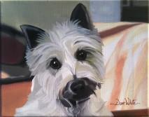 """dog painting"", ""pet painting"", ""animal painting"", ""white dog"", ""dog portrait"", ""pet portrait"", ""pet art"", ""dog art"", ""dave white painting"", ""dave white art"""