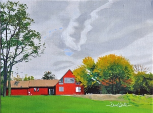 """dave white painting"", ""west virginia painting"", ""landscape painting"", ""red house painting"""
