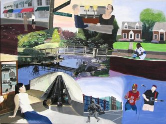 """Wheaton Maryland"", ""LEDC art"", ""Latino Economic Development Corporation art"", ""dave white painting"", ""dave white art"""
