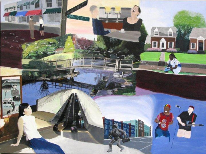 """Wheaton Maryland"", ""LEDC art"", ""Latino Economic Development Corporation art"", ""dave white painting"", ""dave white art"""