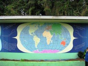 """Costa Rica art"", ""La Cruz de Abangares"", ""arte de guanacaste"", ""cultural art"", ""peace corps art"", art, mural, ""world map mural"", ""dave white painting"", ""dave white art"""