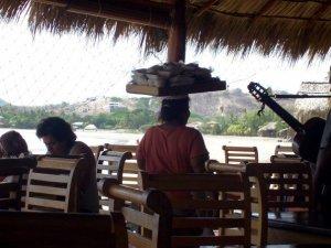 eating lunch in San Juan del Sur