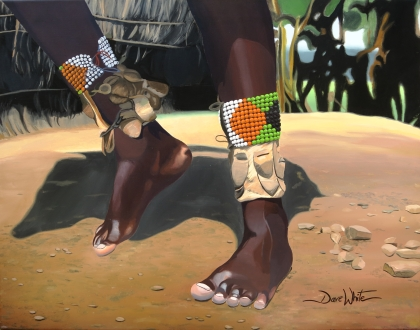 """""""dancing feet painting"""", """"africa painting"""", """"culture painting"""", """"african culture painting"""", """"dance painting"""", """"dave white painting"""""""
