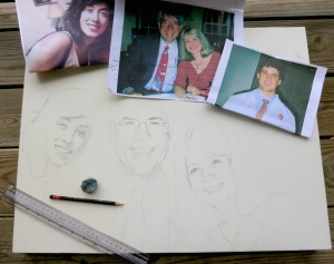 """""""family portrait painting"""", """"portrait painting"""", """"family painting"""", """"dave white painting"""""""