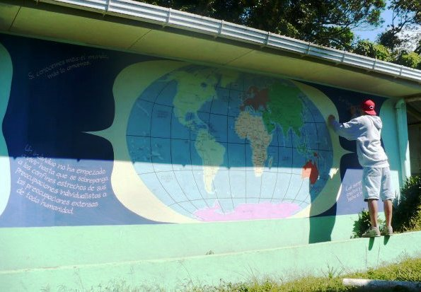 Painting a World Map in Peace Corps