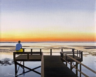 """Crystal Beach"", ""Palm Harbor"", ""Pinellas County"", ""Gulf of Mexico"", ""beach painting"", ""beach art"", ""florida beach"", ""dave white artist"""