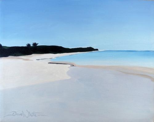 """""""flamenco beach"""", """"puerto rico beach"""", """"isla culebra"""",. """"culebra island"""", """"beach painting"""", """"dave white artist"""", """"beach oil painting"""", """"seascape"""""""