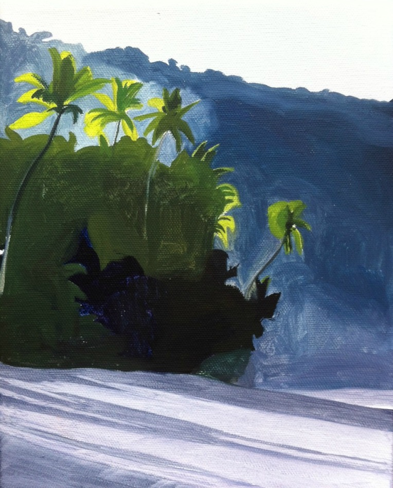 Costa Rica, Corcovado, Beach Painting, Artist Dave White