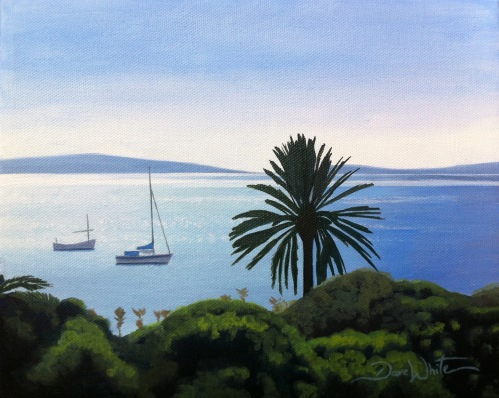 spanish painting, spain painting, spanish art, ibiza, mediterranean, seascape, island, oil painting, painting for sale, art for sale, artist dave white
