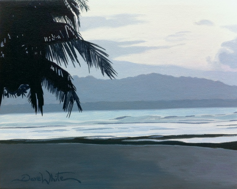 costa rica, puerto viejo, caribbean, beach, playa, oil painting for sale, artist dave white, seascape, painting, art