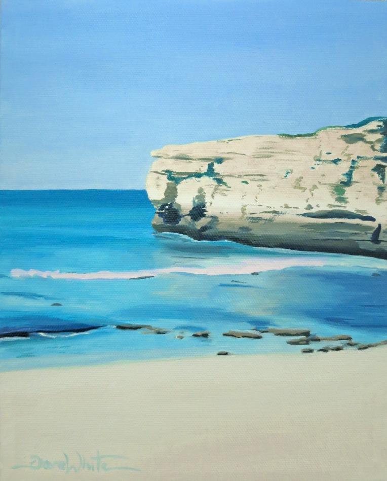 Sao Rafael, Portugal, Beach, Ocean, Playa, Beach Art, Beach Painting, Oil Painting, Dave White, Leesburg Artist, Loudoun Artist, European Beach