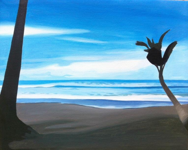 costa rica, uvita, bahia ballena, beach painting, artist dave white