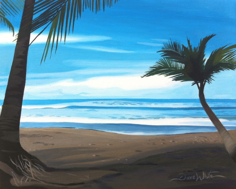uvita costa rica beach painting, uvita costa rica art, uvita painting