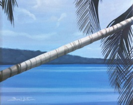 cahuita, costa rica, beach, tropical, beach painting, ocean, seascape, art, oil painting, artist dave white, caribbean