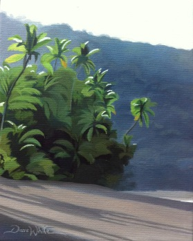 corcovado painting, corcovado costa rica, corcovado art