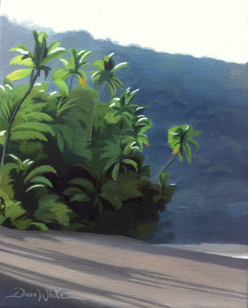 Corcovado, Costa Rica, Beach, Ocean, Tropical, Oil Painting, Artist Dave White, Beach Painting