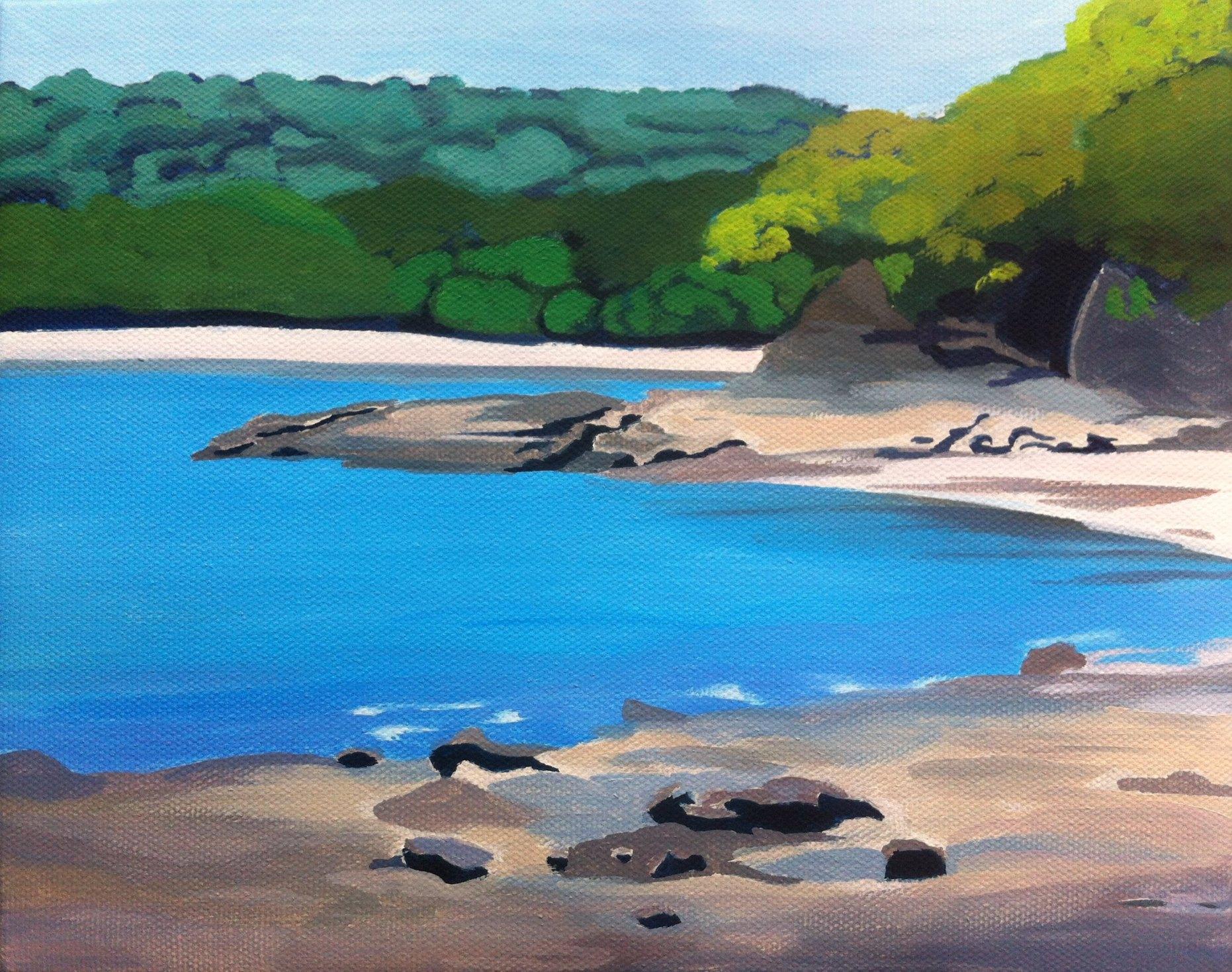 Painting in Progress - Playa Panama, Costa Rica
