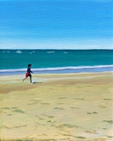 spanish art, spain art, cadiz, boy on beach