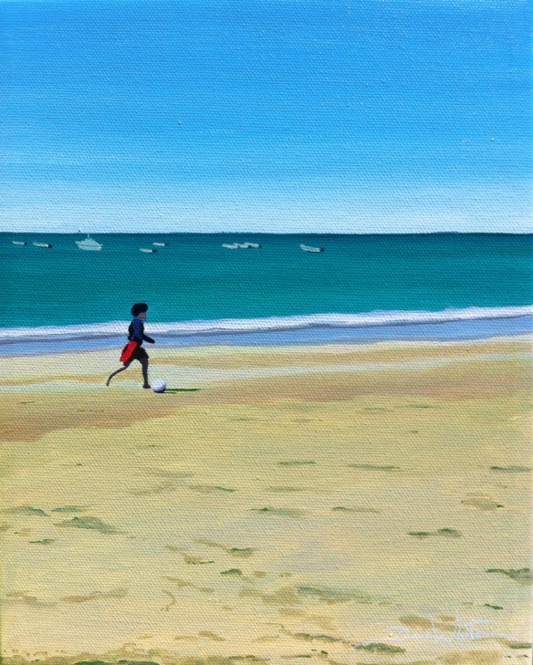 cadiz painting, beach painting, seascape painting, buy original art, buy painting, artist dave white, spain painting