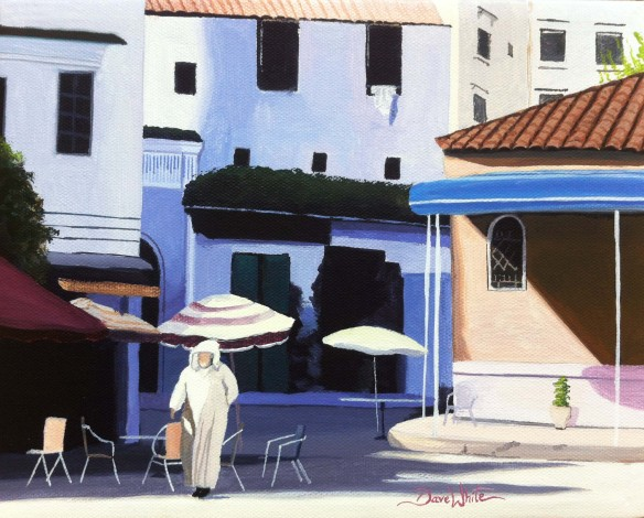 chefchaouen painting, morocco painting, chefchaouen morocco, dave white artist, art, painting, buy art, buy painting, art on ebay, morocco art