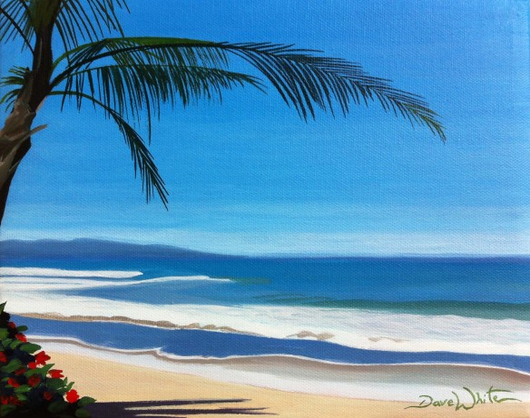 manzanillo costa rica, beach painting, art on ebay, buy from artist, buy art, buy painting, artist dave white, seascape
