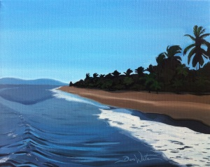 puntarenas beach painting, puntarenas costa rica art