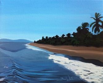 beach painting, buy paintings, costa rica painting, artist dave white, art on ebay, art, original art, buy original art