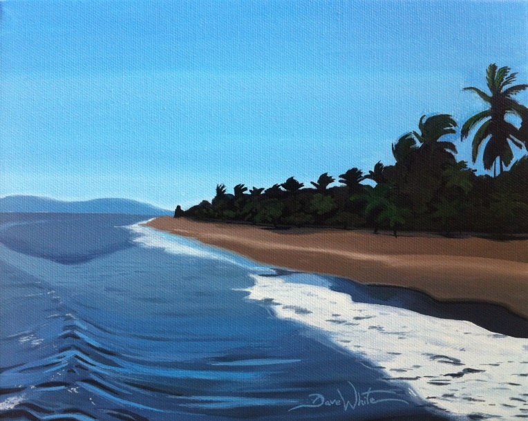 puntarenas beach painting, puntarenas costa rica art
