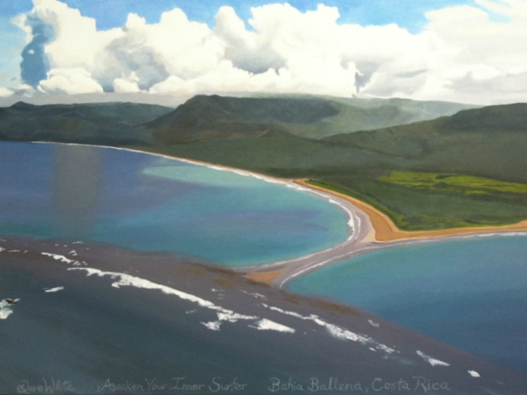 Bahia Ballena Whale's Tale Formation Oil Painting