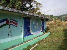 World Map and Flags Mural - La Cruz de Abangares, Costa Rica