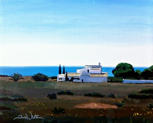 portugal painting, mediterranean painting, sao rafael painting, algarve painting, artist dave white