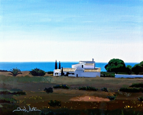 portugal painting, mediterranean painting, sao rafael painting, algarve painting, artist dave white