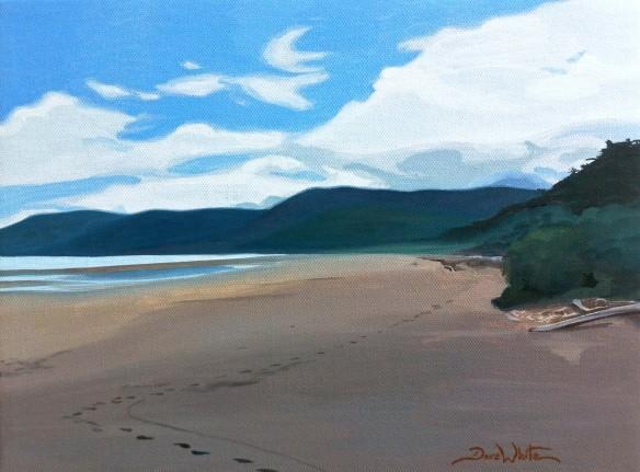 costa rica painting, costa rica art, beach painting, beach art, dave white artist, dave white art, uvita painting, uvita, bahia ballena