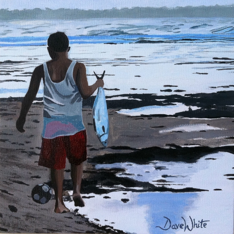 """costa rica painting"", ""beach painting"", ""artist dave white"""