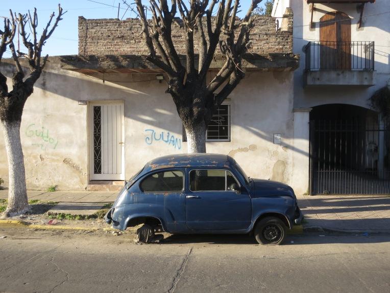 Buenos Aires Argentina Blue Car