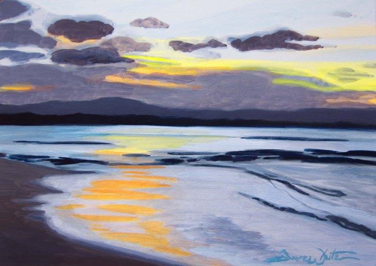 """beach painting"", ""costa rica painting"", ""puerto viejo painting"", ""costa rica beach"", ""beach art"", ""artist dave white"", ""sunset painting"", ""beach sunset painting"", ""beach sunset"", ""atardecer en la playa"""