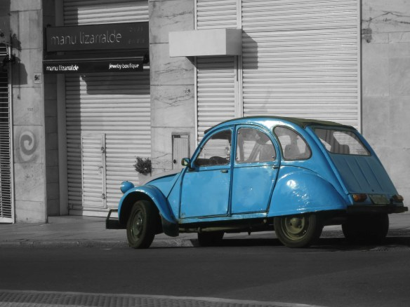 blue car, photography, artist dave white, buenos aires photography