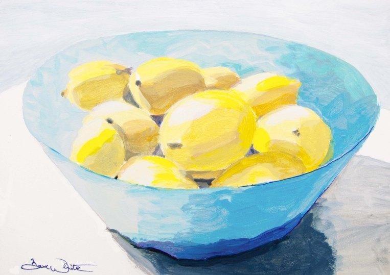 """lemons painting"", ""kitchen decor"", ""artist dave white"", ""loudoun artist"""