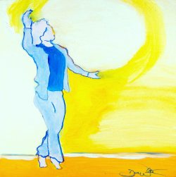 """""""Easy"""" Expressive Dance. Acrylic and Ink on Board."""