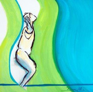 dance painting, artist dave white, dave white art, expressive movement, dance art